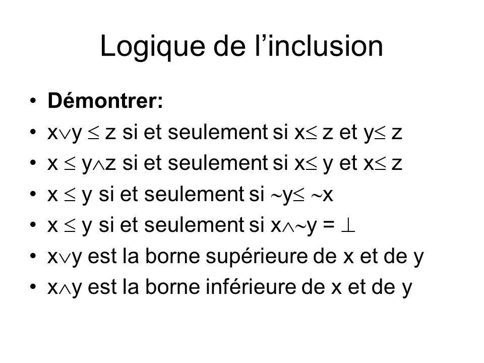 Logique de l'inclusion