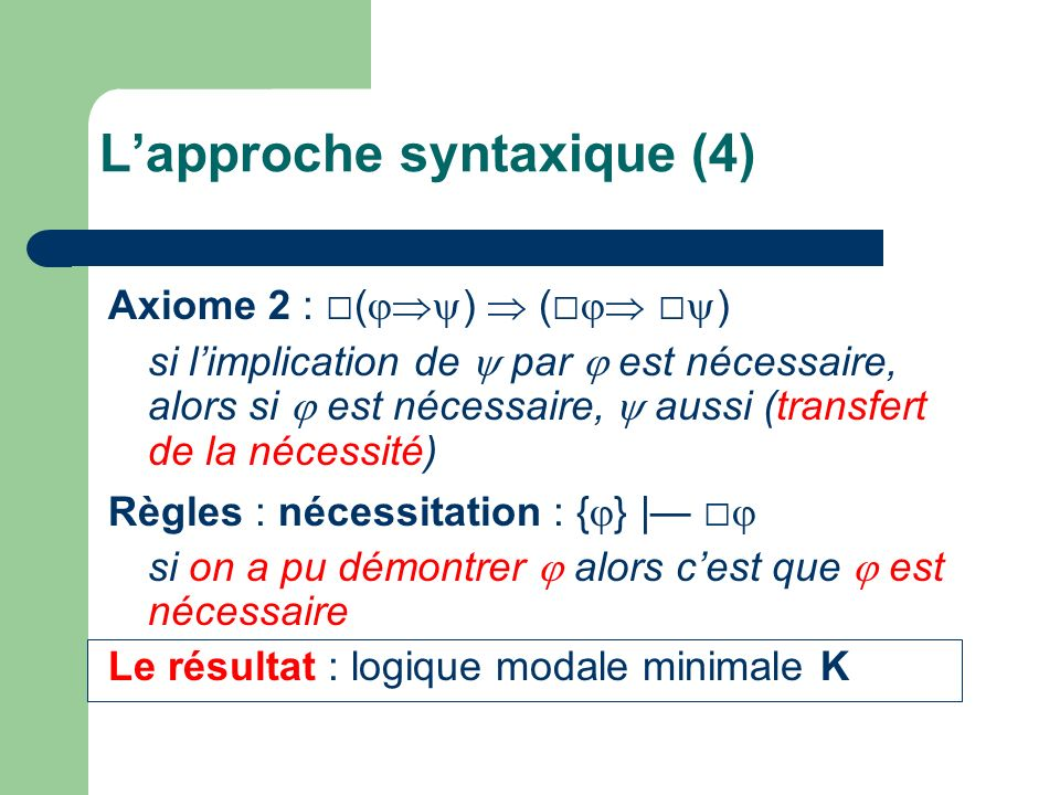 L'approche syntaxique (4)