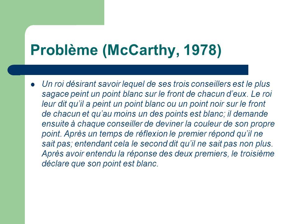 Problème (McCarthy, 1978)