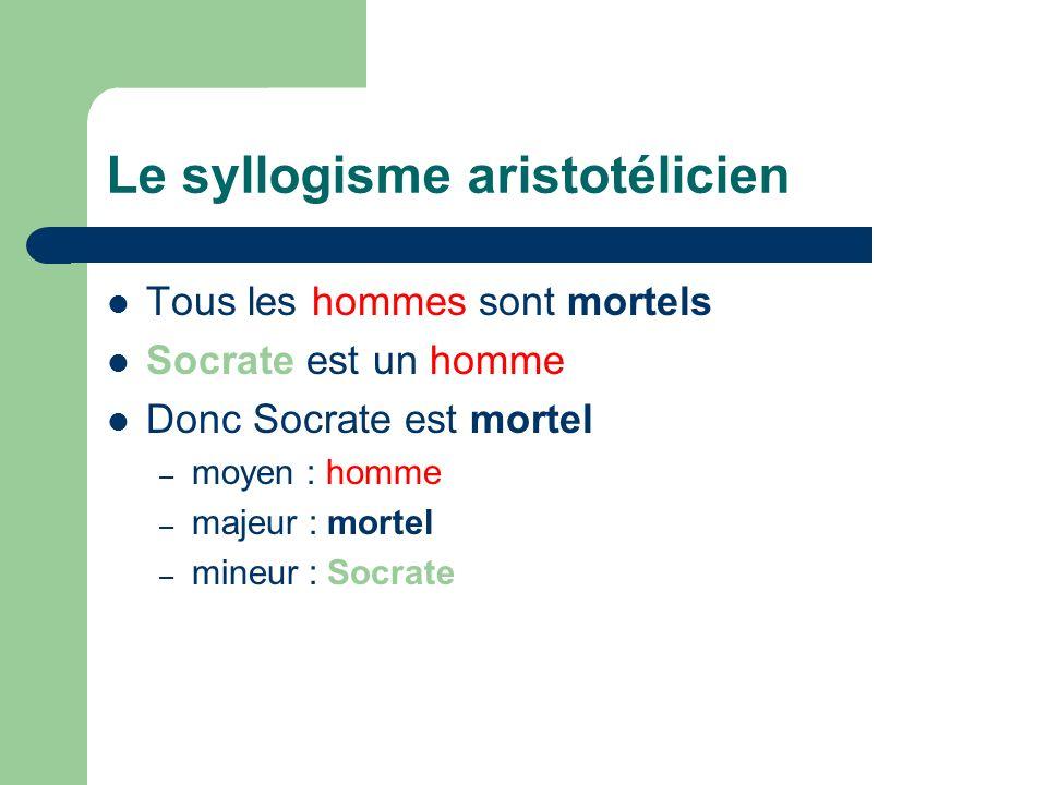 Le syllogisme aristotélicien