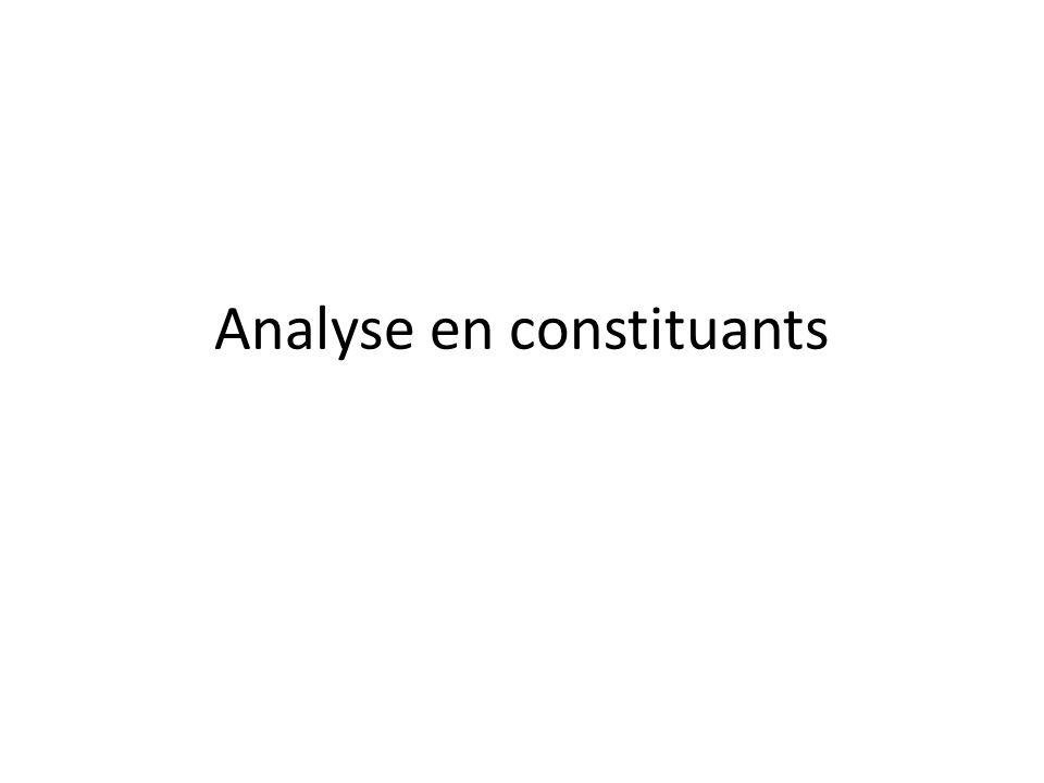 Analyse en constituants