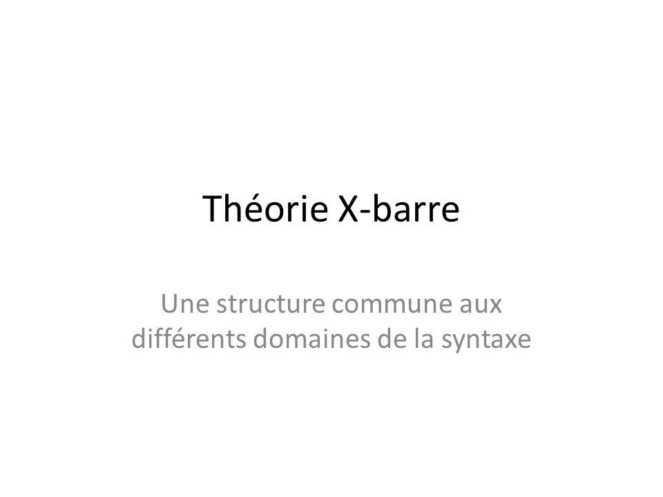 Une structure commune aux différents domaines de la syntaxe