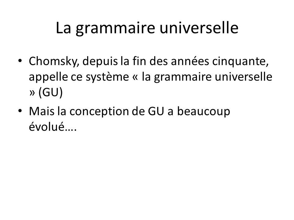 La grammaire universelle