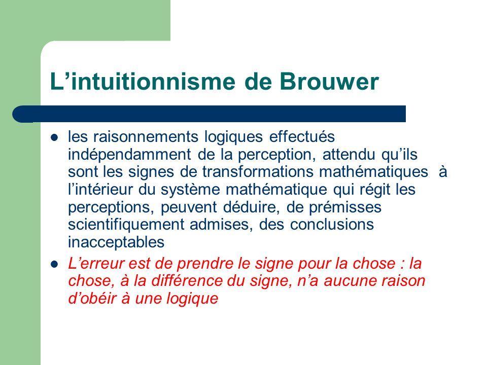 L'intuitionnisme de Brouwer