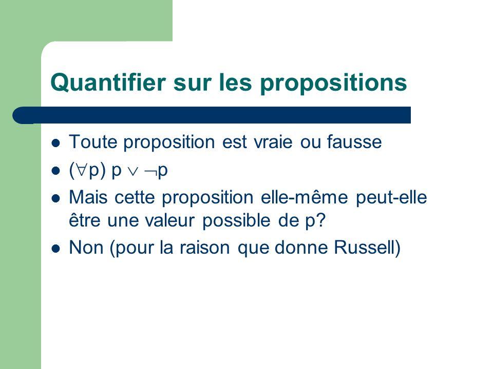 Quantifier sur les propositions