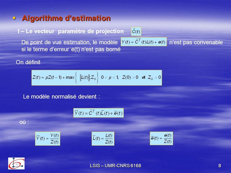 Algorithme d'estimation