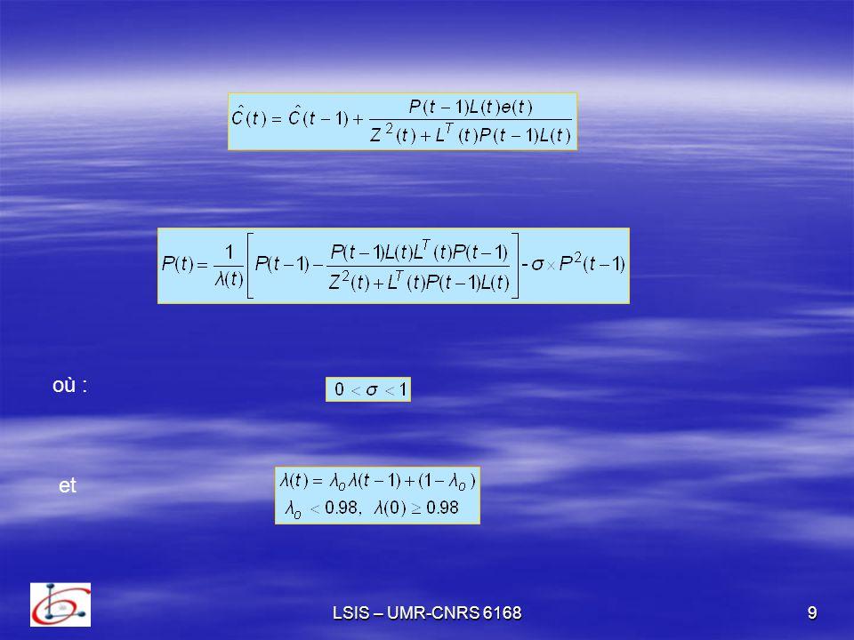 où : et LSIS – UMR-CNRS 6168