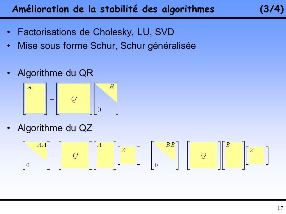 Amélioration de la stabilité des algorithmes (3/4)