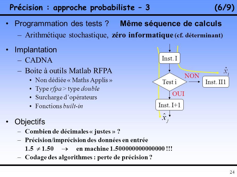 Précision : approche probabiliste – 3 (6/9)