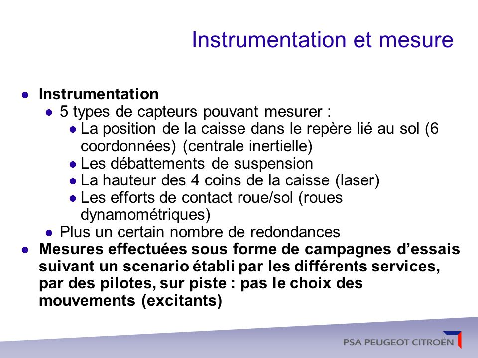 Instrumentation et mesure