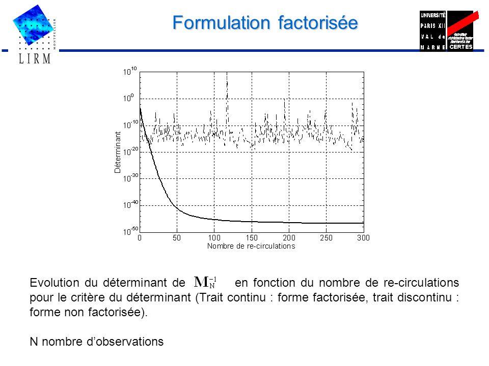 Formulation factorisée