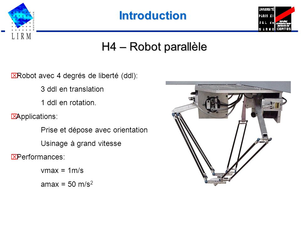 Introduction H4 – Robot parallèle