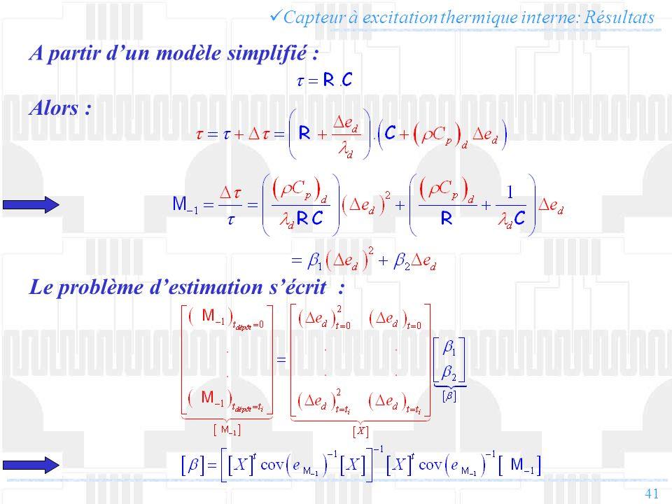A partir d'un modèle simplifié :