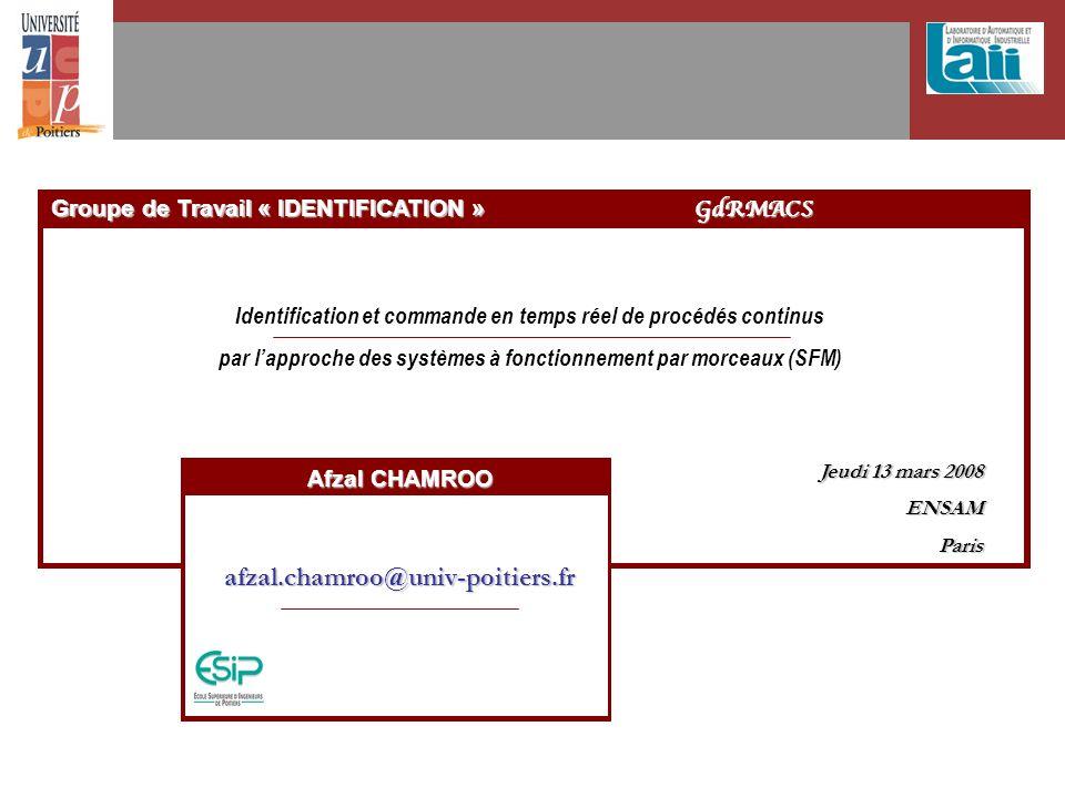 Groupe de Travail « IDENTIFICATION » GdRMACS