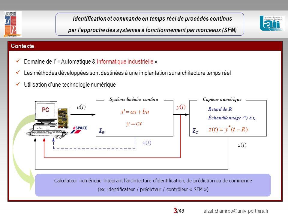 Identification et commande en temps réel de procédés continus