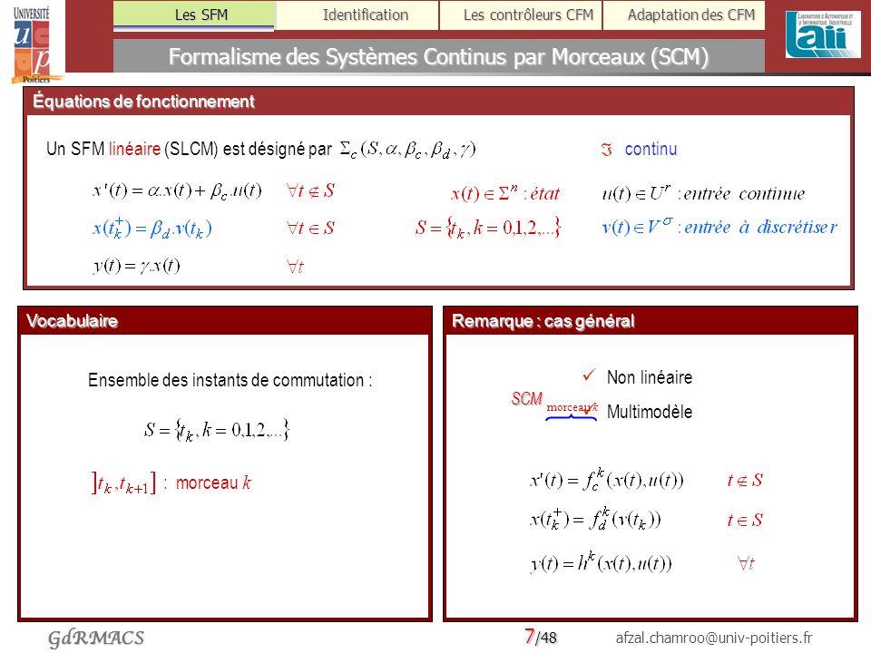 Formalisme des Systèmes Continus par Morceaux (SCM)