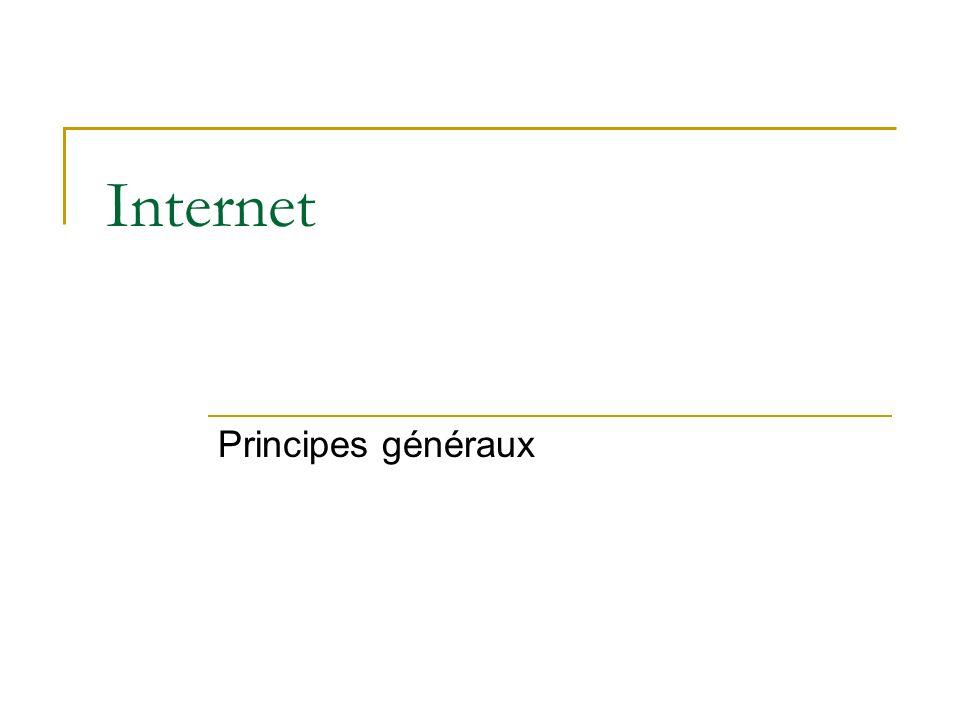 Internet Principes généraux