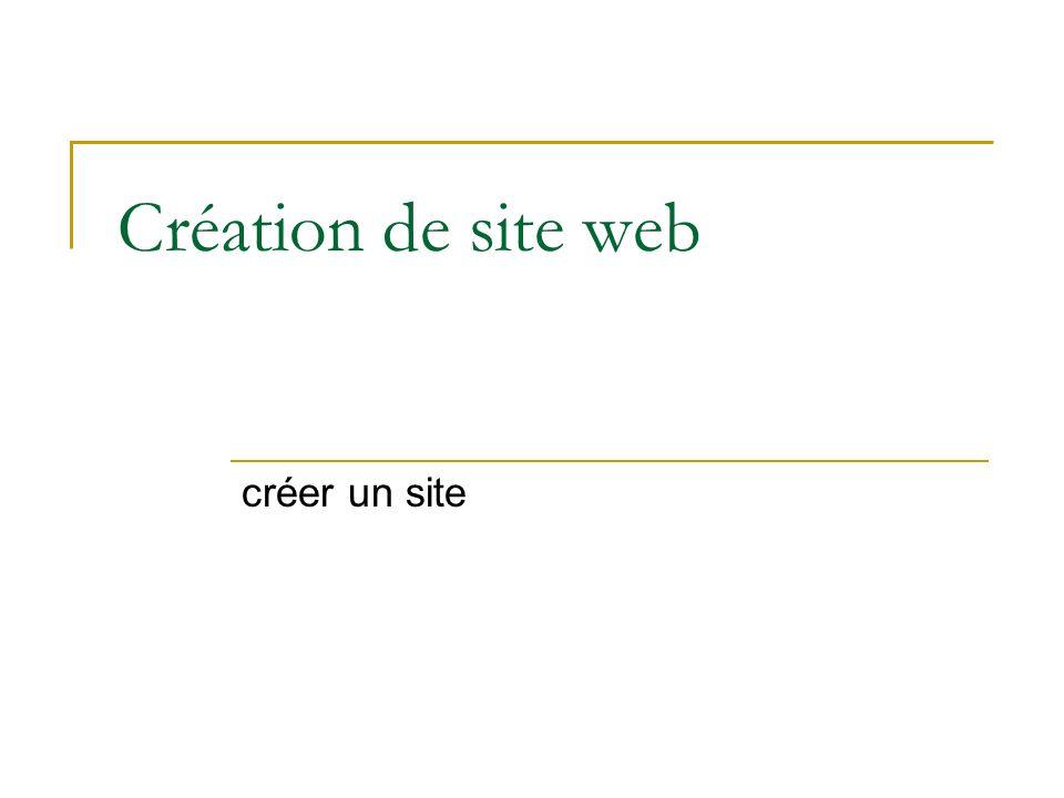 Création de site web créer un site