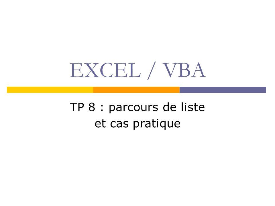 TP 8 : parcours de liste et cas pratique