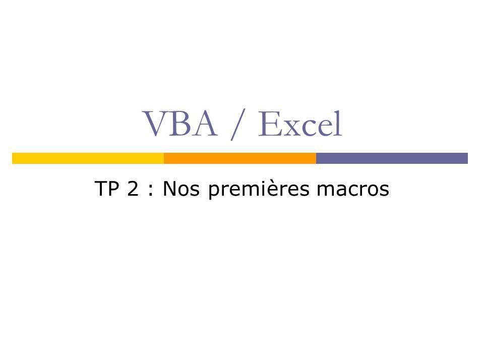 TP 2 : Nos premières macros
