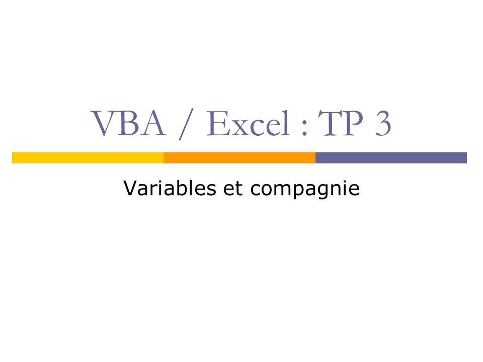 Variables et compagnie