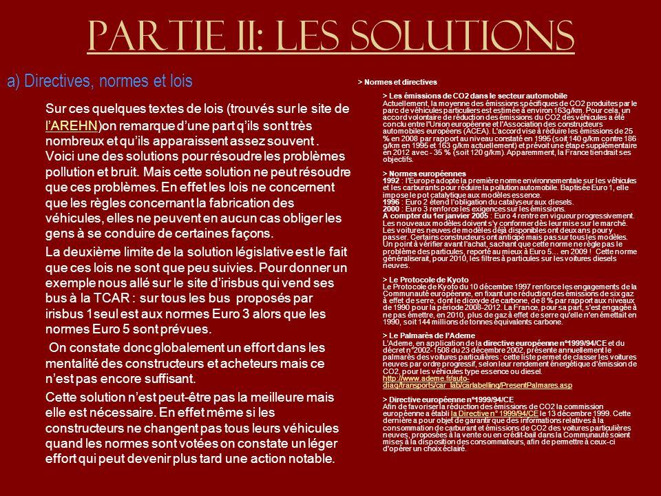 Partie II: Les solutions