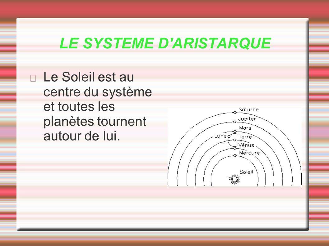 LE SYSTEME D ARISTARQUE