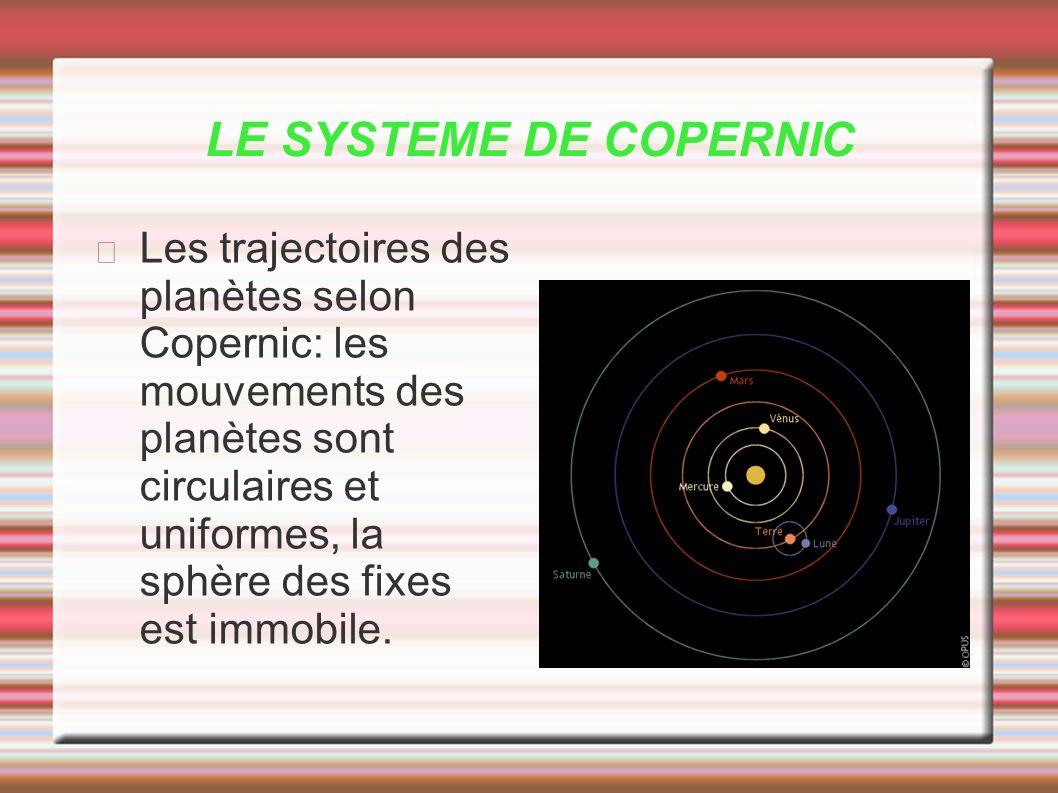 LE SYSTEME DE COPERNIC