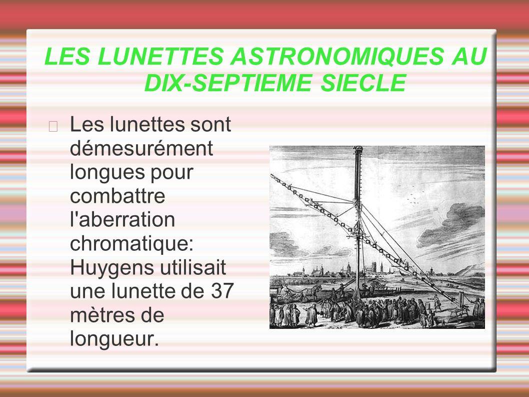 LES LUNETTES ASTRONOMIQUES AU DIX-SEPTIEME SIECLE