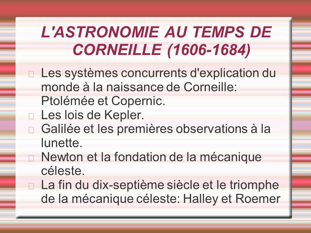 L ASTRONOMIE AU TEMPS DE CORNEILLE (1606-1684)