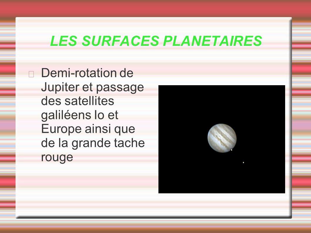 LES SURFACES PLANETAIRES