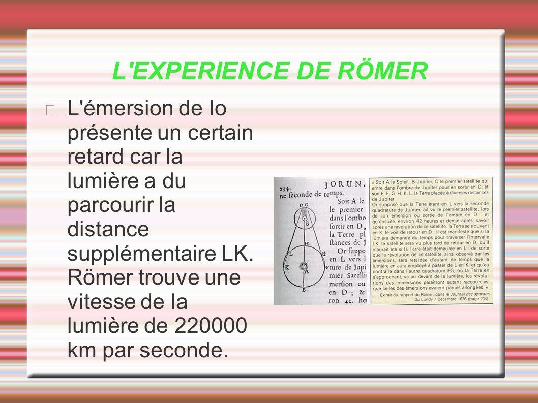 L EXPERIENCE DE RÖMER