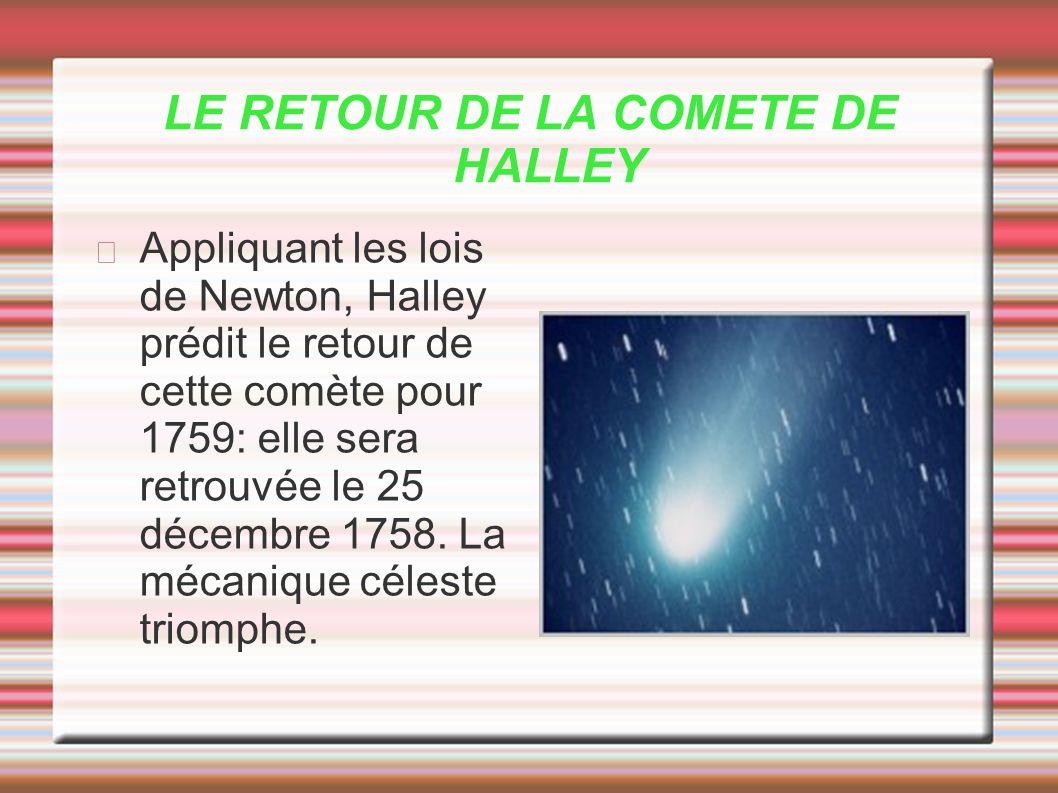 LE RETOUR DE LA COMETE DE HALLEY