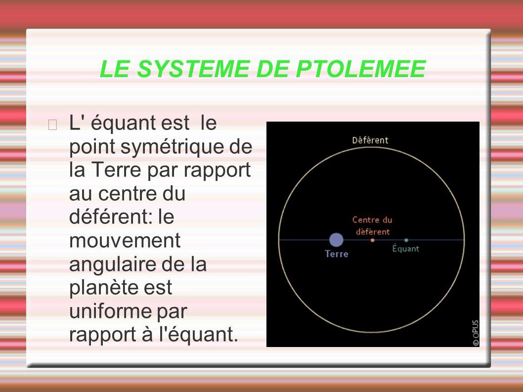 LE SYSTEME DE PTOLEMEE