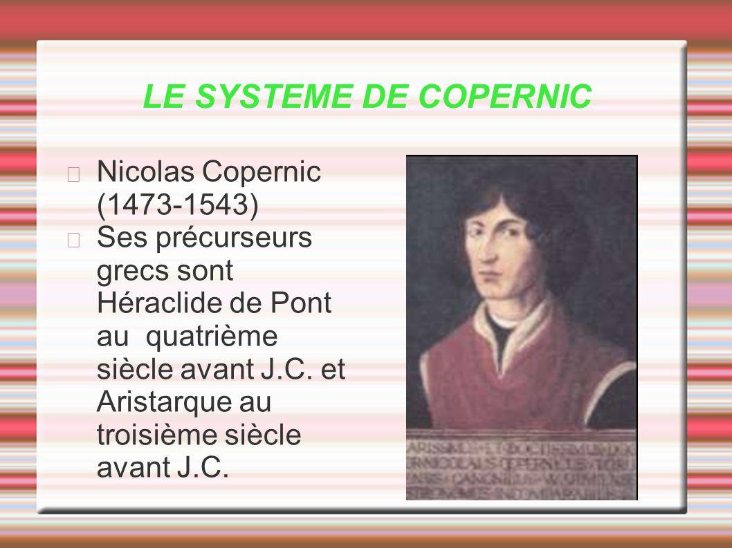 LE SYSTEME DE COPERNIC Nicolas Copernic (1473-1543)