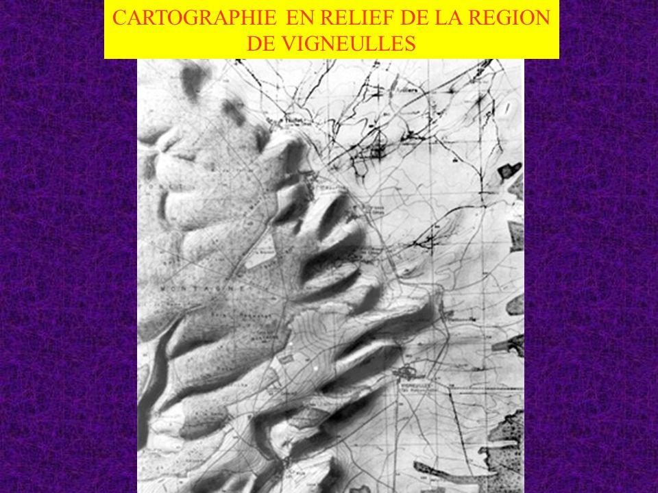 CARTOGRAPHIE EN RELIEF DE LA REGION DE VIGNEULLES