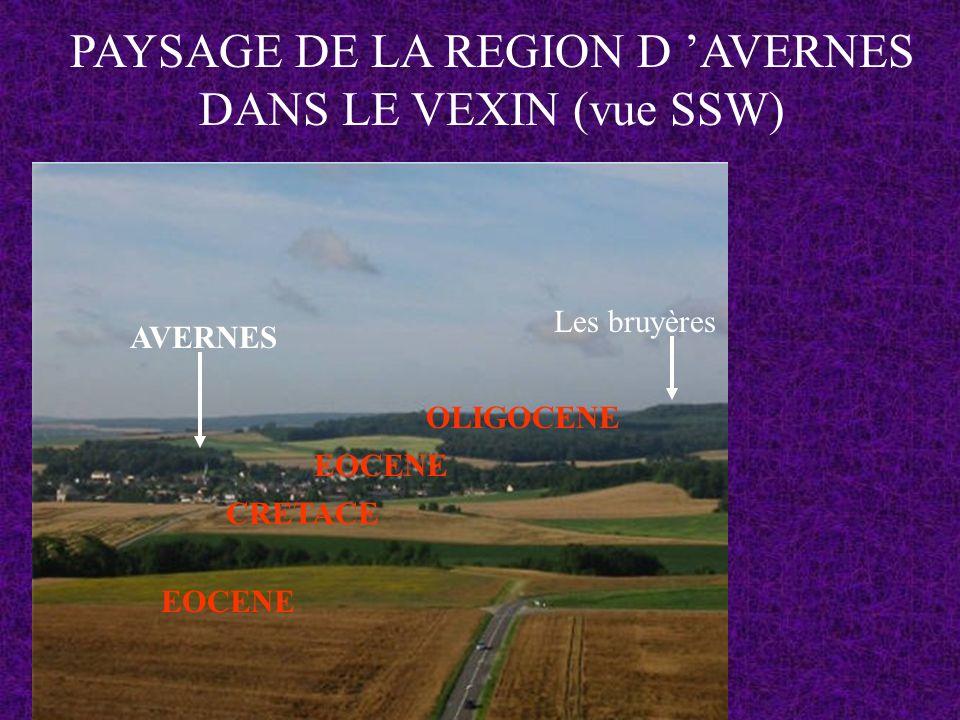 PAYSAGE DE LA REGION D 'AVERNES DANS LE VEXIN (vue SSW)