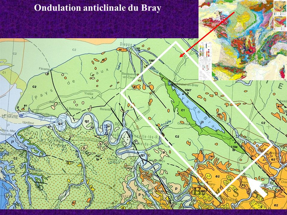 Ondulation anticlinale du Bray