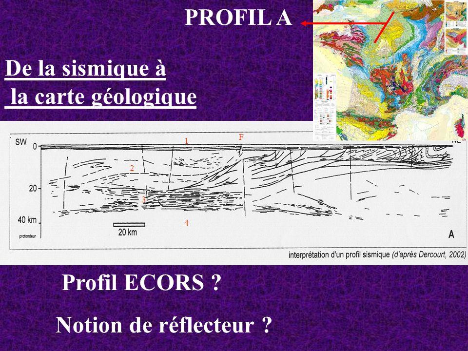 PROFIL A De la sismique à la carte géologique Profil ECORS