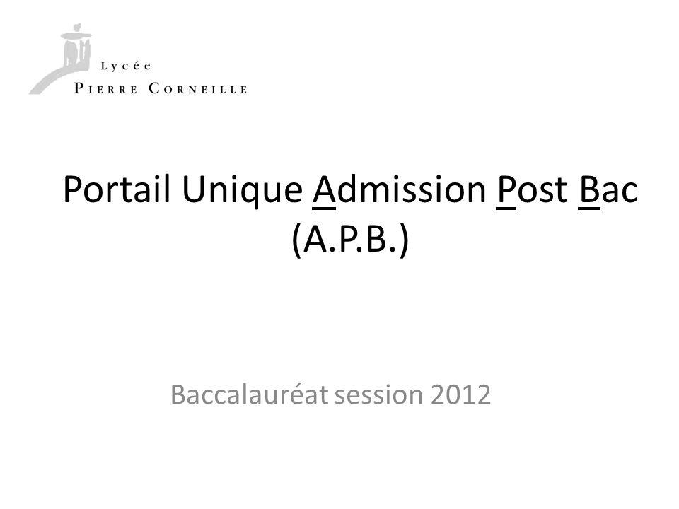 Portail Unique Admission Post Bac (A.P.B.)