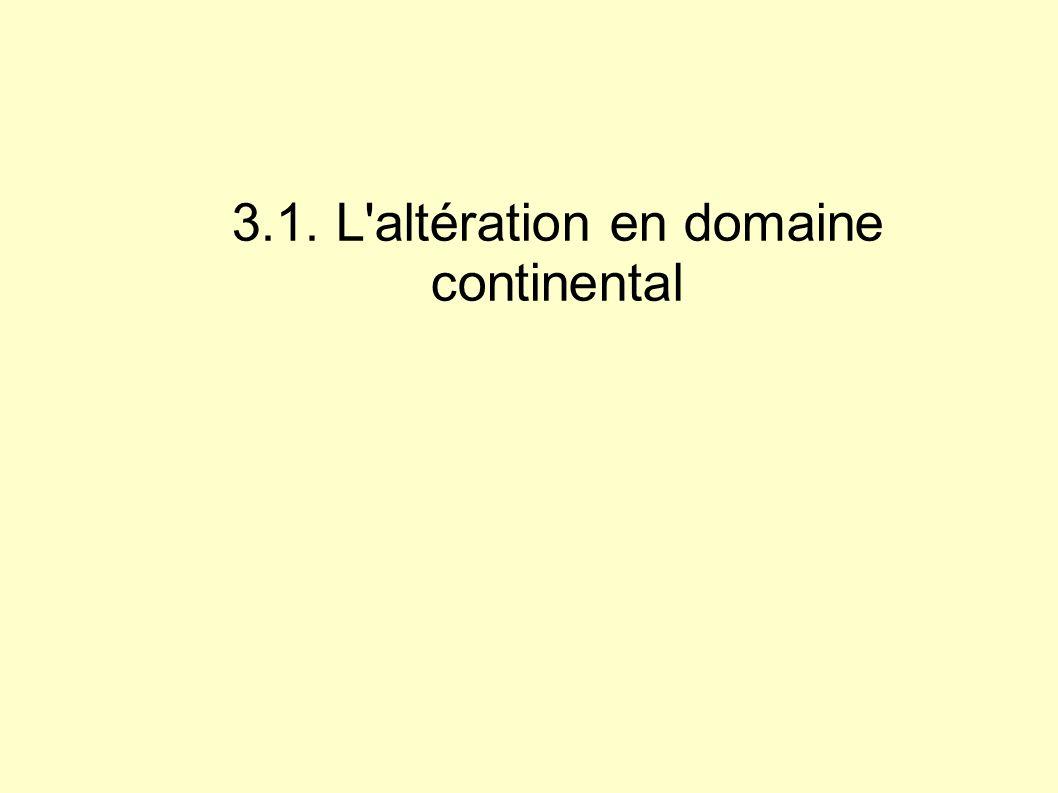 3.1. L altération en domaine continental