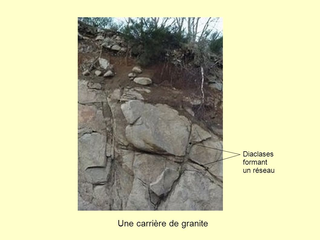Une carrière de granite
