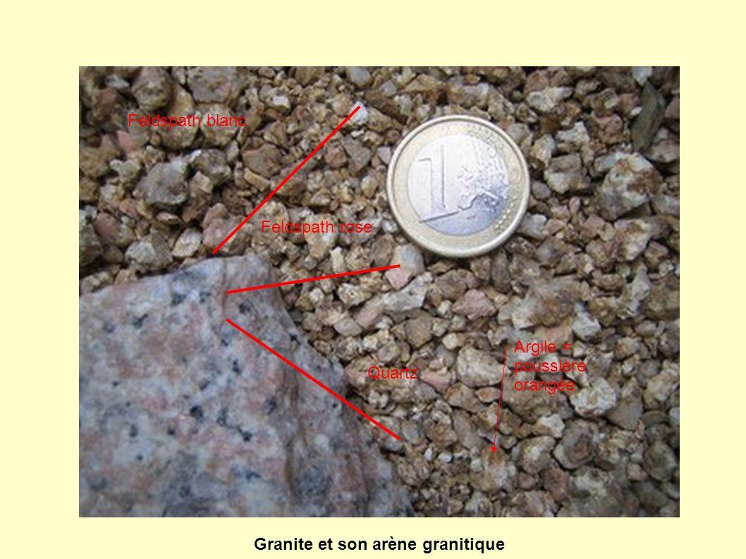 Granite et son arène granitique