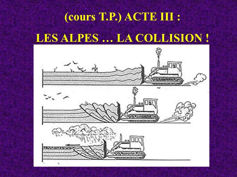 LES ALPES … LA COLLISION !
