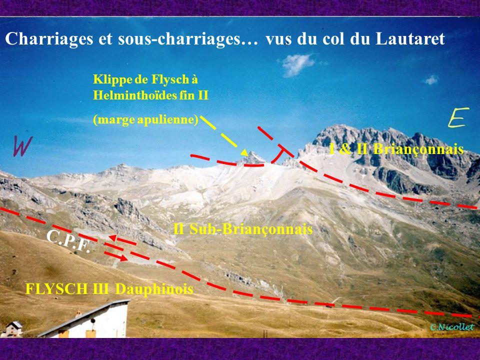 Charriages et sous-charriages… vus du col du Lautaret