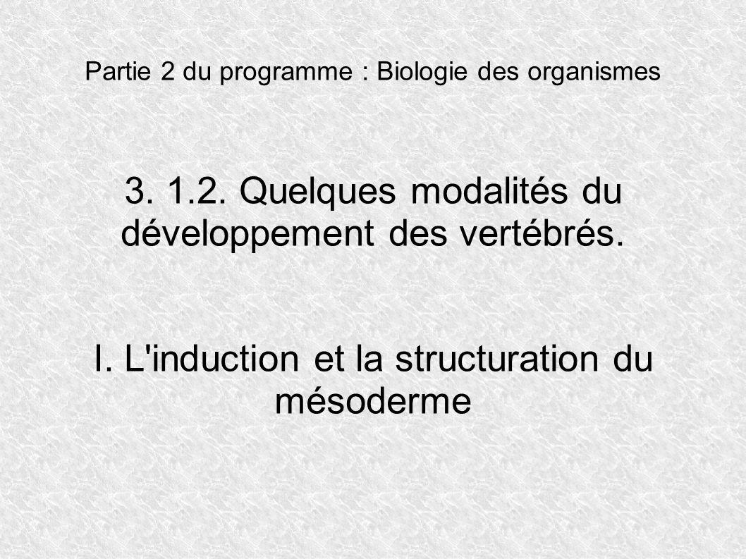 3. 1.2. Quelques modalités du développement des vertébrés.