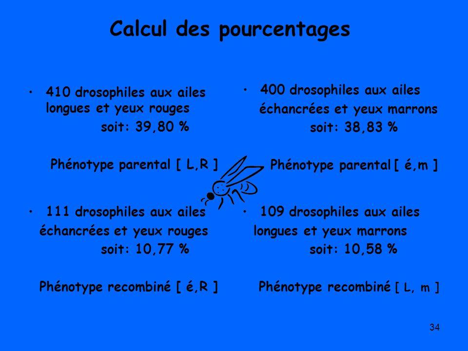 Calcul des pourcentages