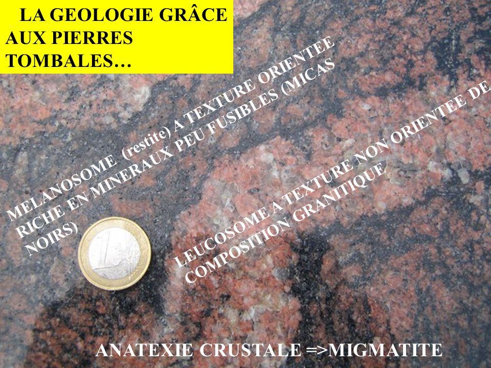 LA GEOLOGIE GRÂCE AUX PIERRES TOMBALES…