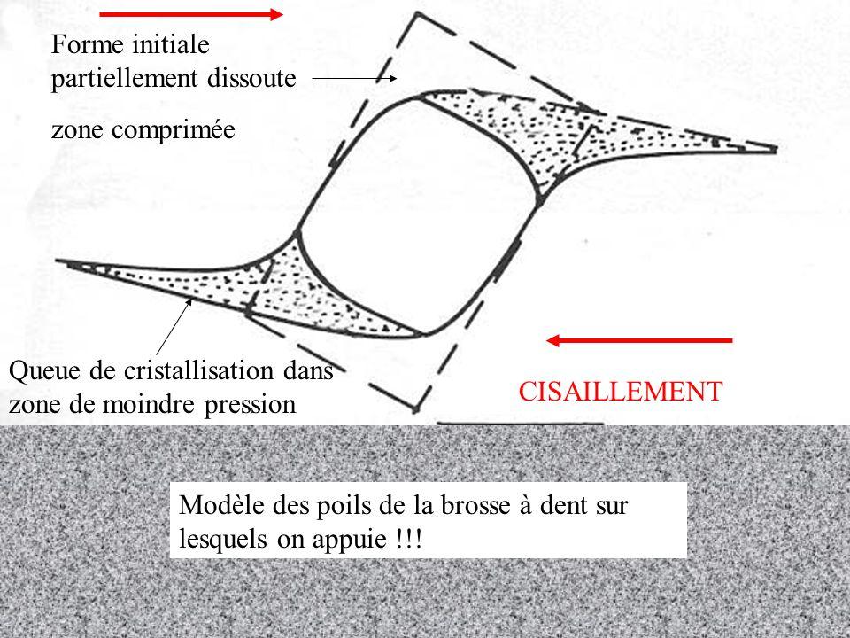 Forme initiale partiellement dissoute