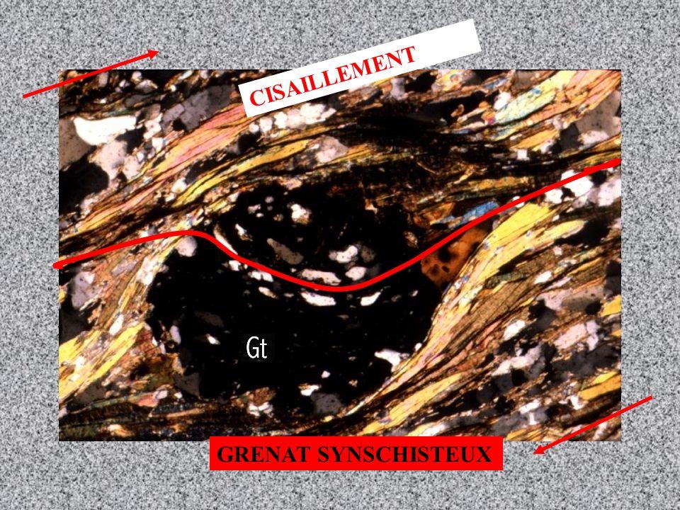 CISAILLEMENT GRENAT SYNSCHISTEUX